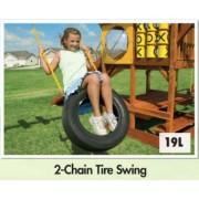 2 Chain Tyre Swing